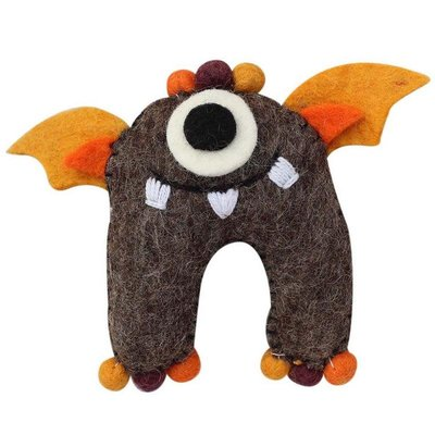Global Crafts Felt Tooth Monster Doll: Brown