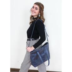 Fair Anita Venture Blue Leather Crossbody/Tote