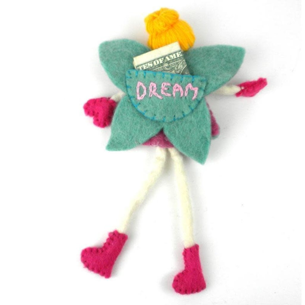 Global Crafts Felt Tooth Fairy Doll: Blonde Hair