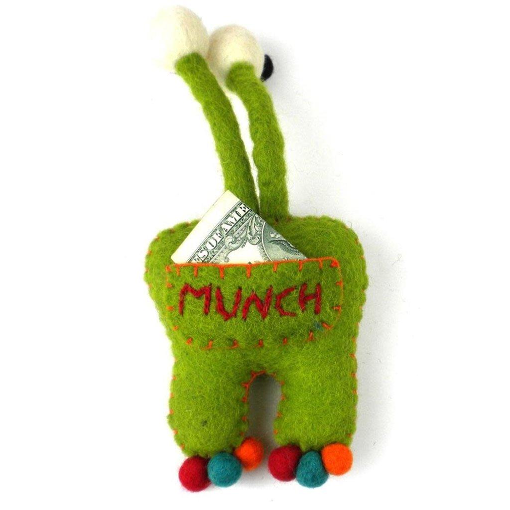 Global Crafts Felt Tooth Monster Doll: Green