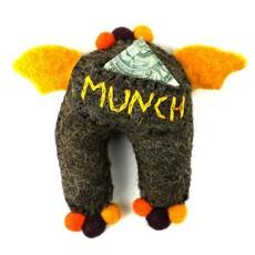 Global Crafts Felt Tooth Monster Doll: Brown