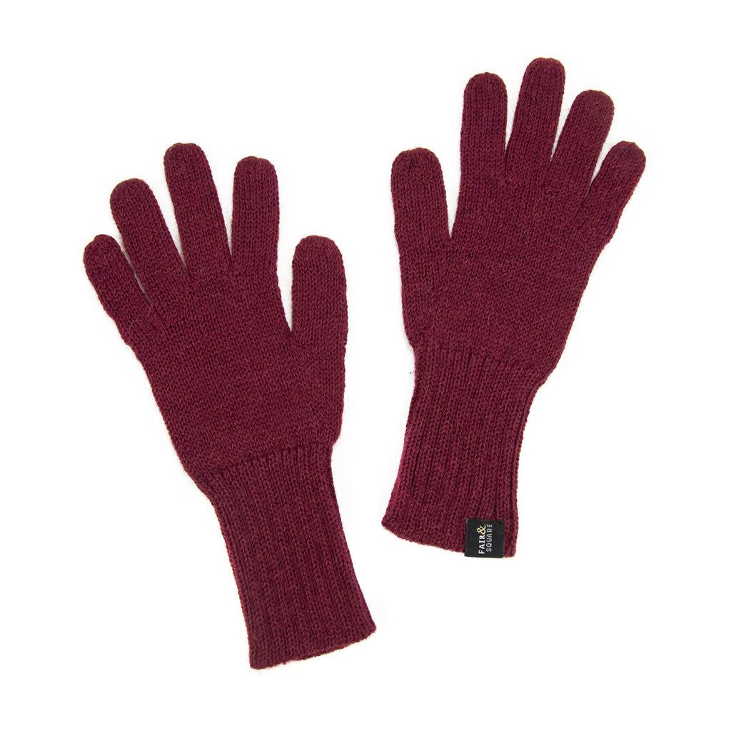 Minga Imports Gelid Alpaca Blend Gloves Burgundy