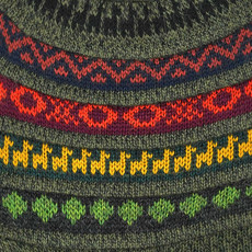Minga Imports Alpaca Blend Earflap Reversible Hat Green