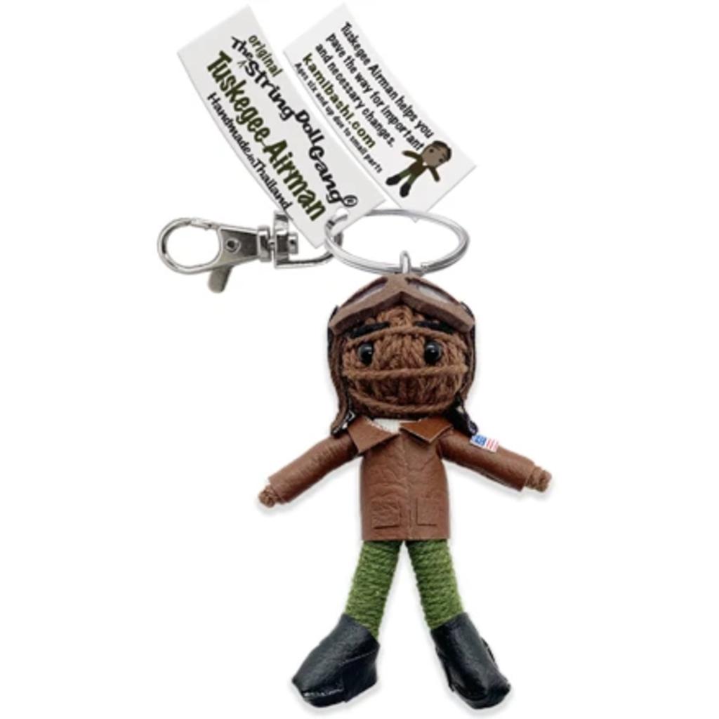 Kamibashi Tuskeegee Airman String Doll Keychain