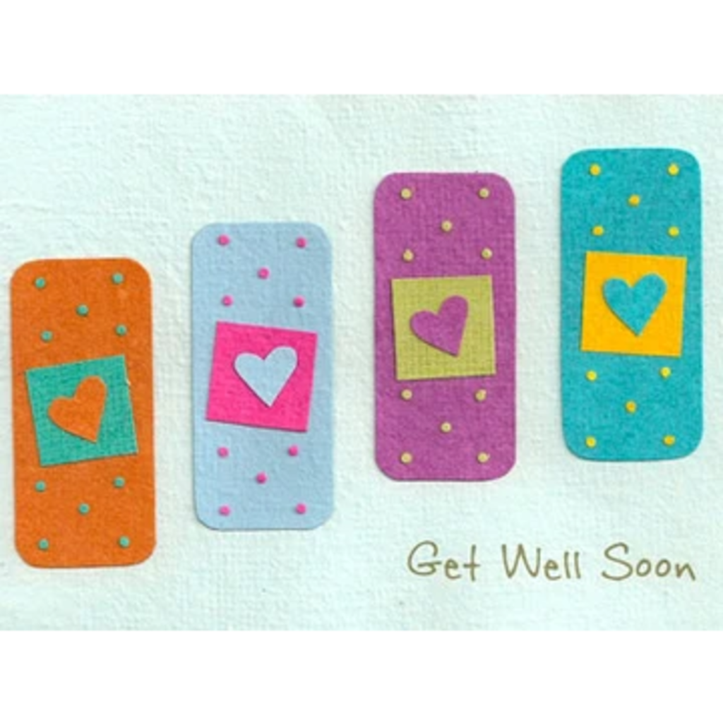 Good Paper Get Well Bandages Sympathy Card