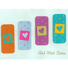 Good Paper Get Well Bandages Card