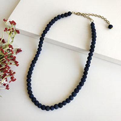 World Finds Indigo Kantha Single Strand Necklace