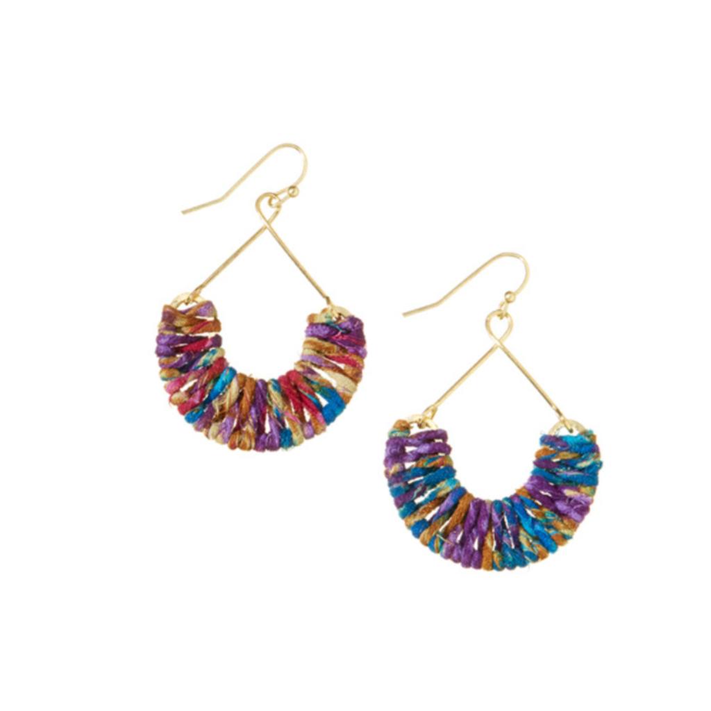 Serrv Cool Mayra Twisted Sari Earrings