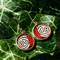 Silver Tree Designs Butterfly Wing Round Earrings - Assorted