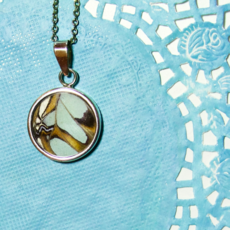 Silver Tree Designs Butterfly Wing Round Pendant Assorted