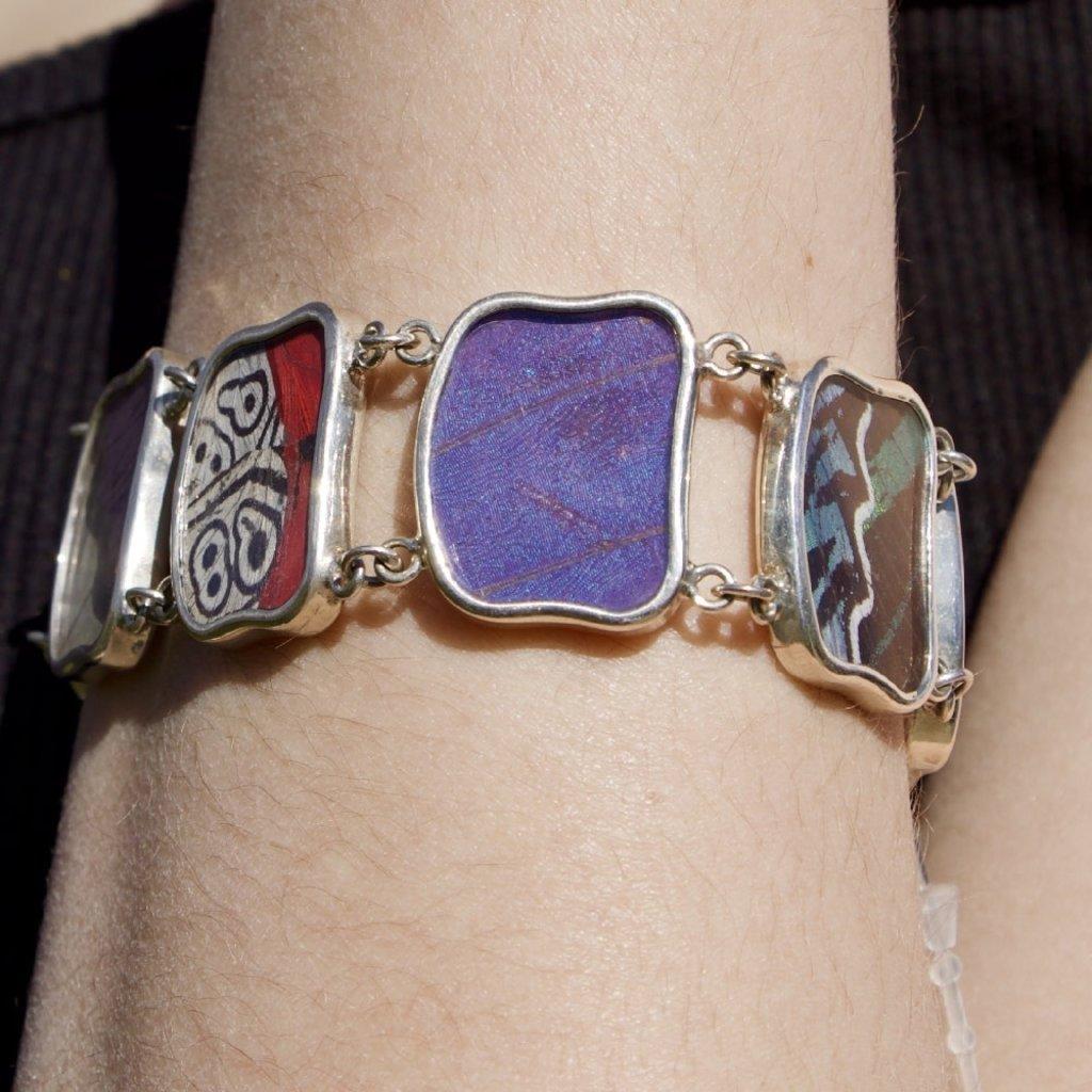 Silver Tree Designs Butterfly Wing Link Bracelet