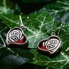 Silver Tree Designs Butterfly Wing Heart Earrings Assorted