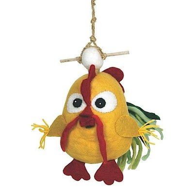 DZI Handmade Clucky Chicken Felted Wool Birdhouse