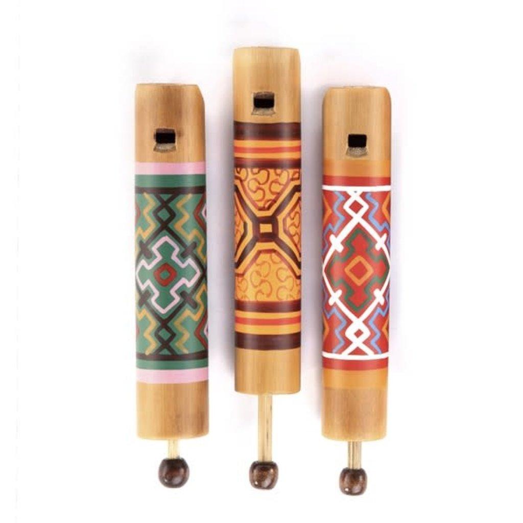 Minga Imports Artisan Slide Whistle: Shipibo