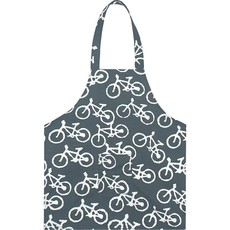 Global Mamas Kids Apron: Charcoal Bikes