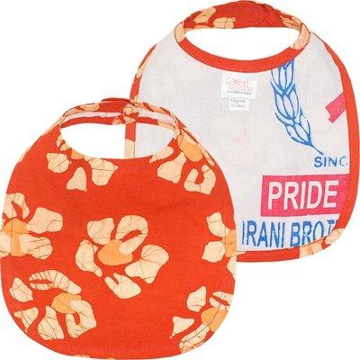 Global Mamas Organic Cotton Baby Bib: Tangerine Tropics