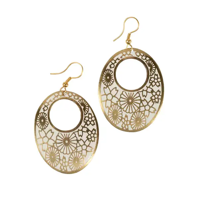 Ten Thousand Villages Legend Embossed Earrings