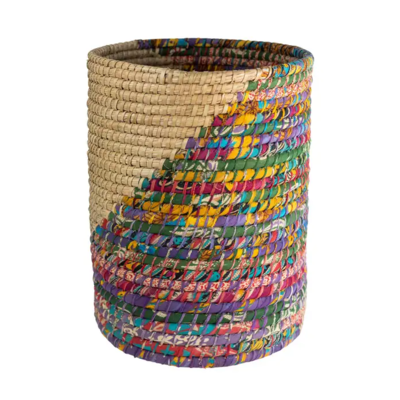 "Ten Thousand Villages Kaleidoscope 20"" Basket"