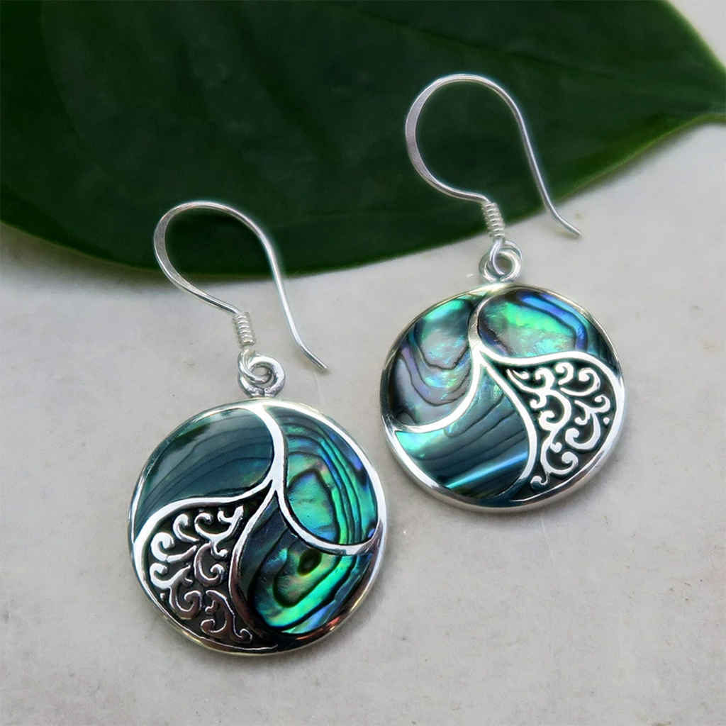 Women's Peace Collection Saja Abalone Sterling Silver Earrings