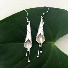 Women's Peace Collection Calla Lily Sterling Silver Earrings