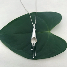 Women's Peace Collection Calla Lily Sterling Silver Necklace