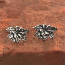 Women's Peace Collection Petite Flower Sterling Stud Earrings