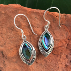 Women's Peace Collection Translucent Abalone Sterling Earrings