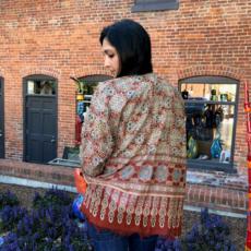 Serrv Sahana Cotton Blockprint Kimono