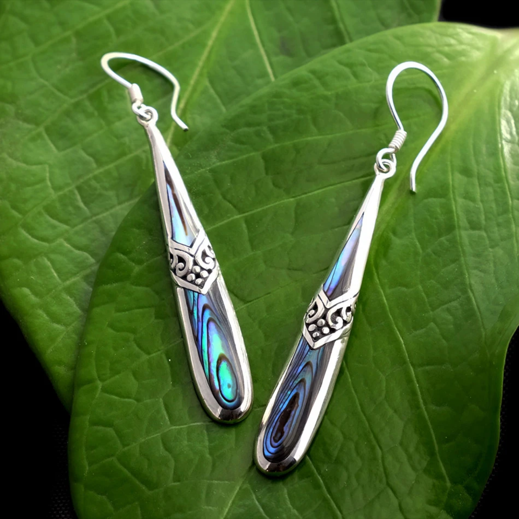 Women's Peace Collection Kenindah Abalone Sterling Earrings