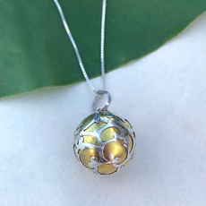 Women's Peace Collection Gold Dream Ball Sterling Necklace