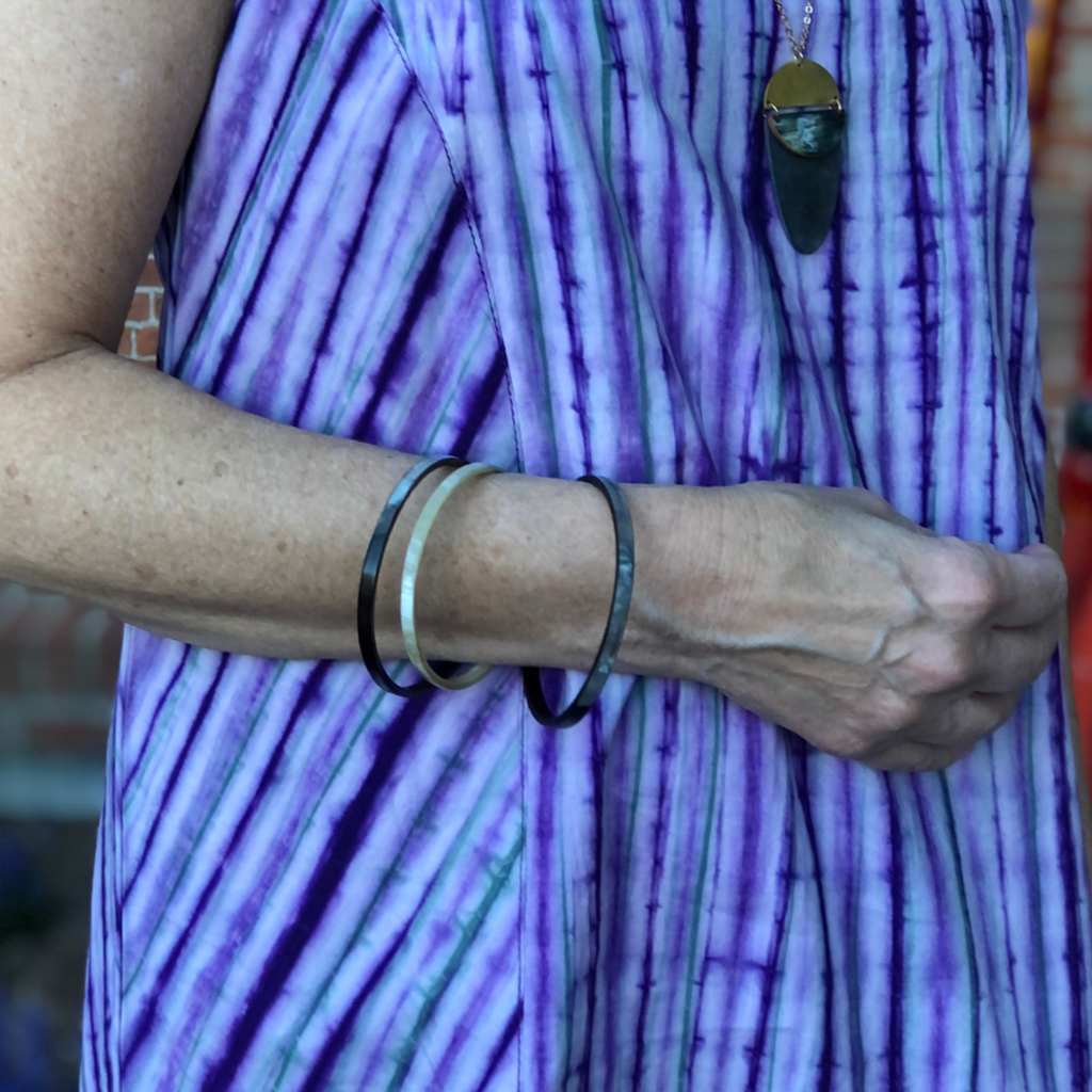 Fair Trade Winds Bedford Large Dark Horn Bracelet