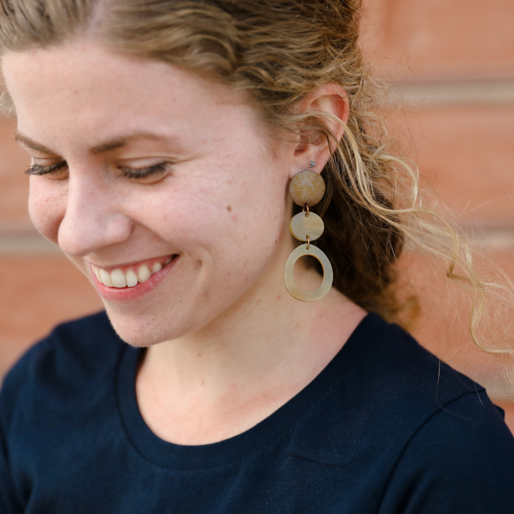 Fair Anita Maverick Horn Earrings