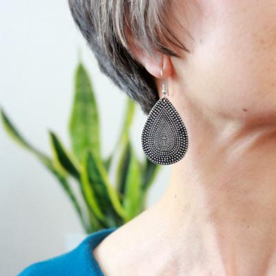Fair Anita Textured Teardrop Earrings