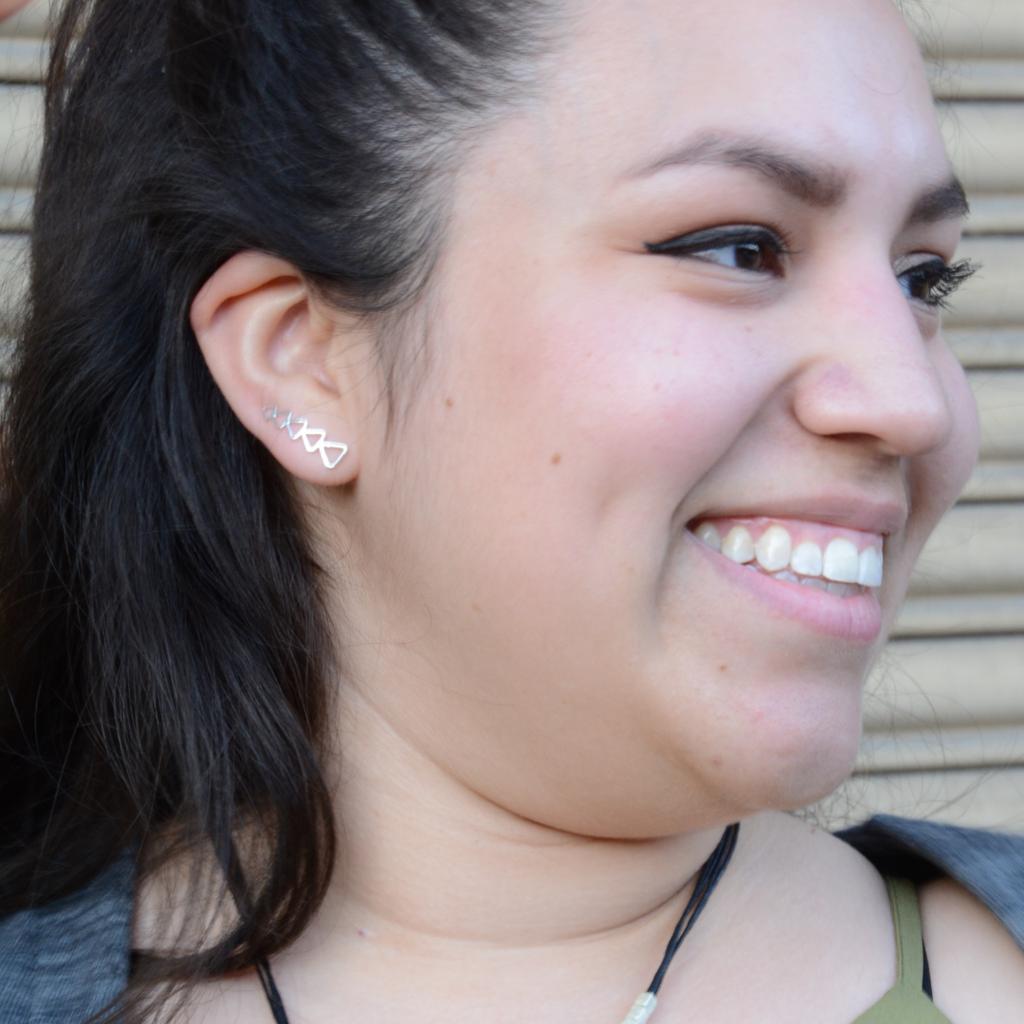Fair Anita Trendy Triangle Ear Climber Earrings