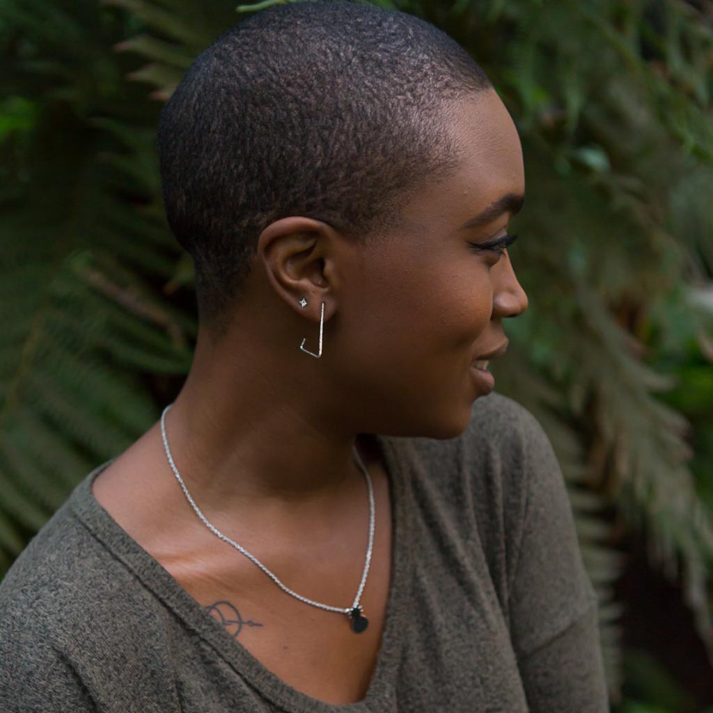 Fair Anita Triangle Recycled Sterling Hoop Earrings