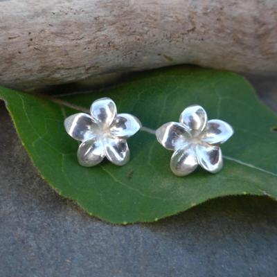 Women's Peace Collection Elegant Flower Sterling Stud Earrings