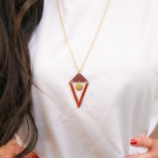 Fair Anita Cutting Edge Brass Necklace