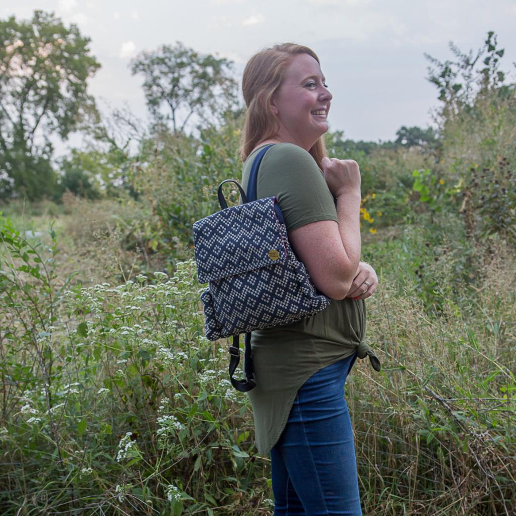 Fair Anita Journeyer Geometric Cotton Backpack