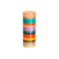 Thumbprint Artifacts Memphis Stripe Pillar Candle 3x8