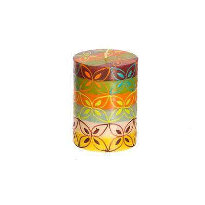 Thumbprint Artifacts Magic Garden Pillar Candle 3x4