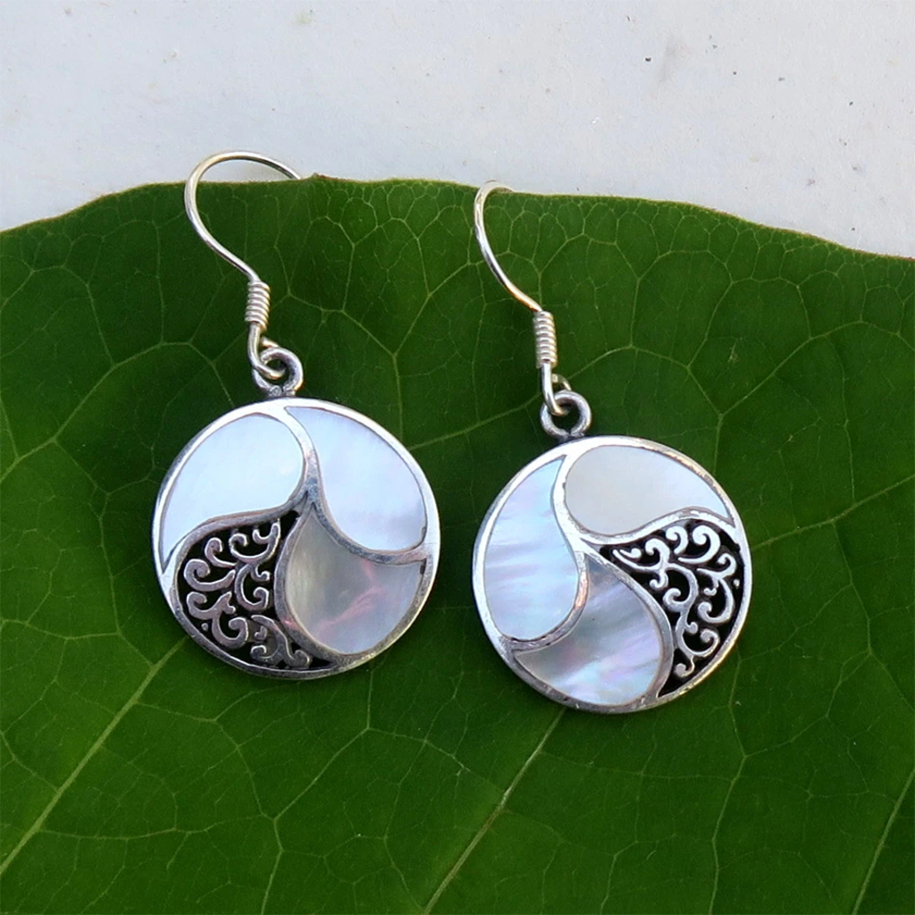 Women's Peace Collection Saja Mother of Pearl Sterling Earrings