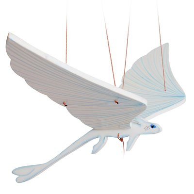 Tulia's Artisan Gallery Flying Mobile: White Dragon