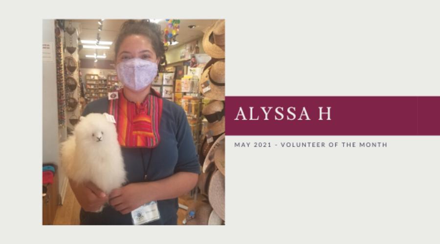Meet Alyssa H: Volunteer of the Month (May 2021)