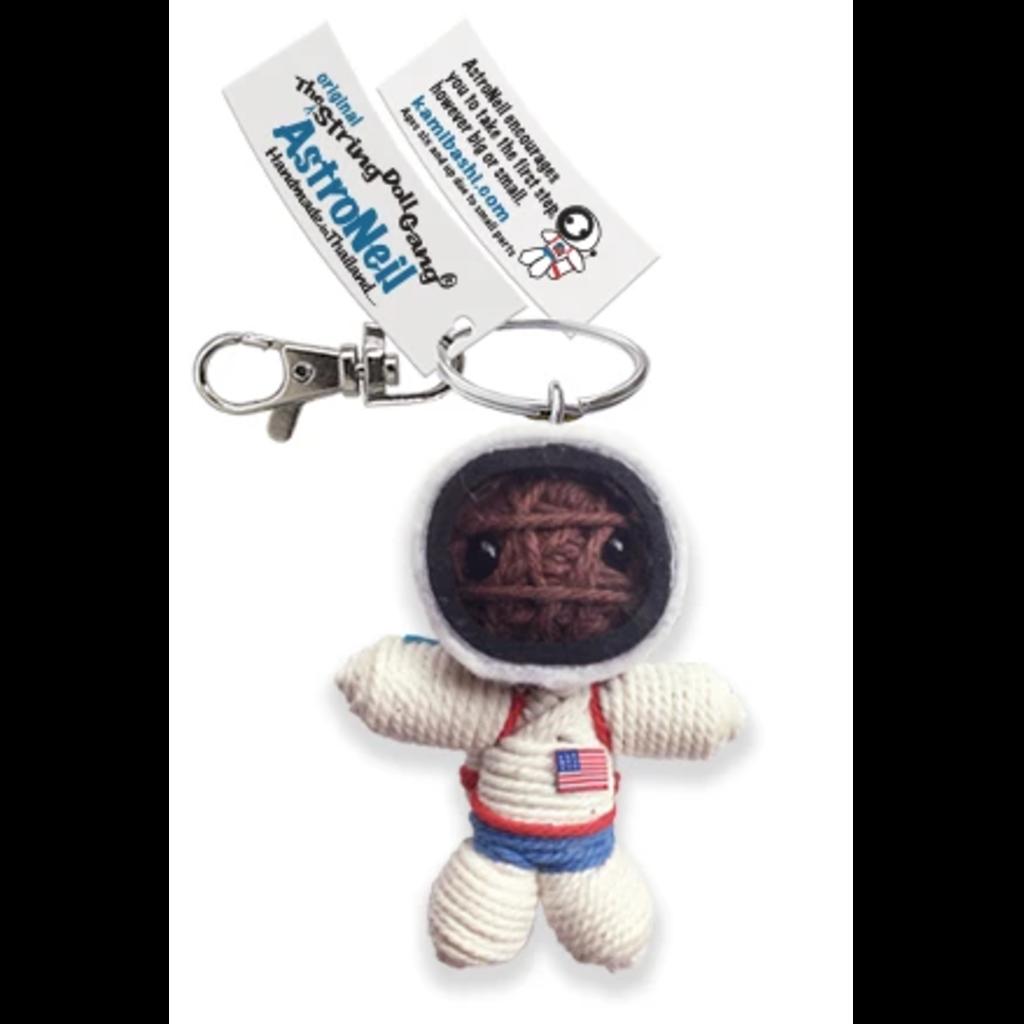 Kamibashi Astronaut Brown String Doll Keychain