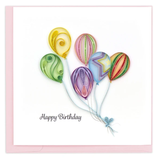 Quilling Card Colorful Birthday Balloons Quilled Card