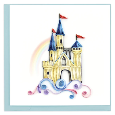 Quilling Card Castle in the Clouds Quilled Card