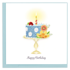 Quilling Card Whimsical Birthday Cake Quilled Card