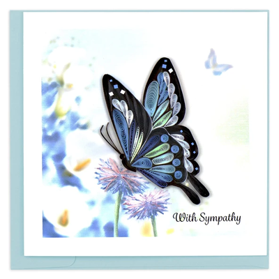 Quilling Card Sympathy Butterfly Quilled Card
