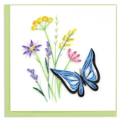 Quilling Card Wildflower & Butterfly Quilled Card