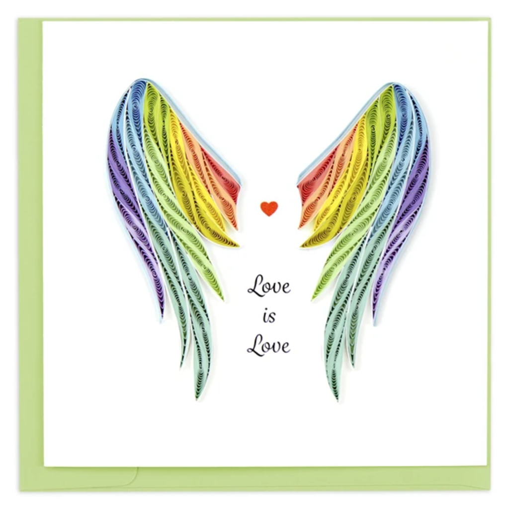 Quilling Card Pride Wings Quilled Card